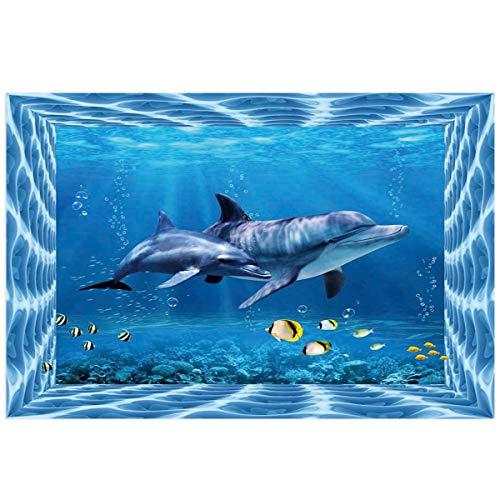YOKOU Undersea Life Aquarium Background Sticker Wallpaper 18.4