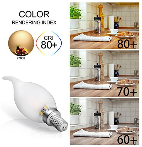 Led E12 Frosted: Candelabra LED Bulbs Non Dimmable 40w Equivalent Frosted