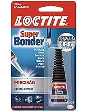 Loctite Super Bonder Precisão, cola universal para reparos precisos, cola instantânea de alta performance, cola multiúso de fácil aplicação, embalagem de 1 x 5g