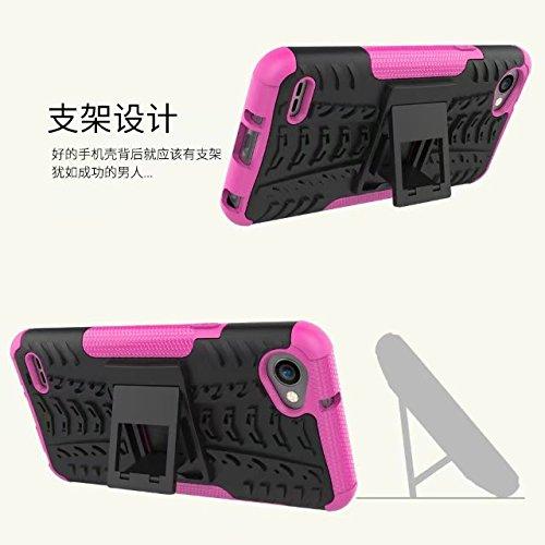 YHUISEN LG Q6 Case, patrón de Hyun de doble capa de armadura híbrida Kickstand 2 en 1 caso de protección contra el choque Fo LG Q6 / LG Q6 Plus / LG Q6 Alpha ( Color : Black ) Orange