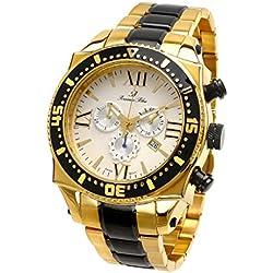 Porsamo Bleu Milan G Stainless Steel Gold Tone & Back Men's Watch 072CMIS