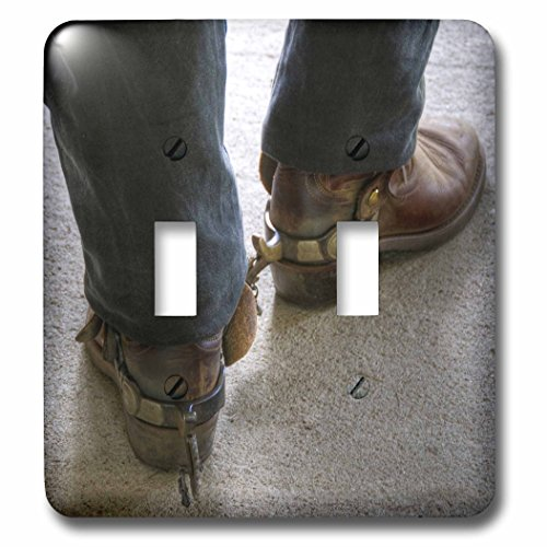 3dRose lsp_98397_2 Man with Cowboy Boots with Spurs Double Toggle Switch