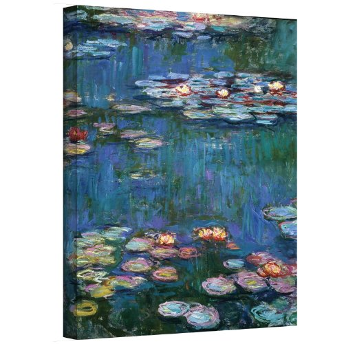 Art Wall Water Lilies by Claude Monet Gallery Wrapped Canvas, 14 by 18-Inch