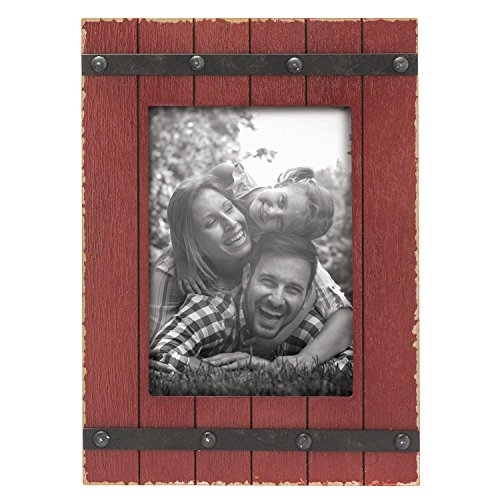 Foreside Home & Garden FFRD06173 4X6 Austin Photo Frame Red from Foreside Home and Garden