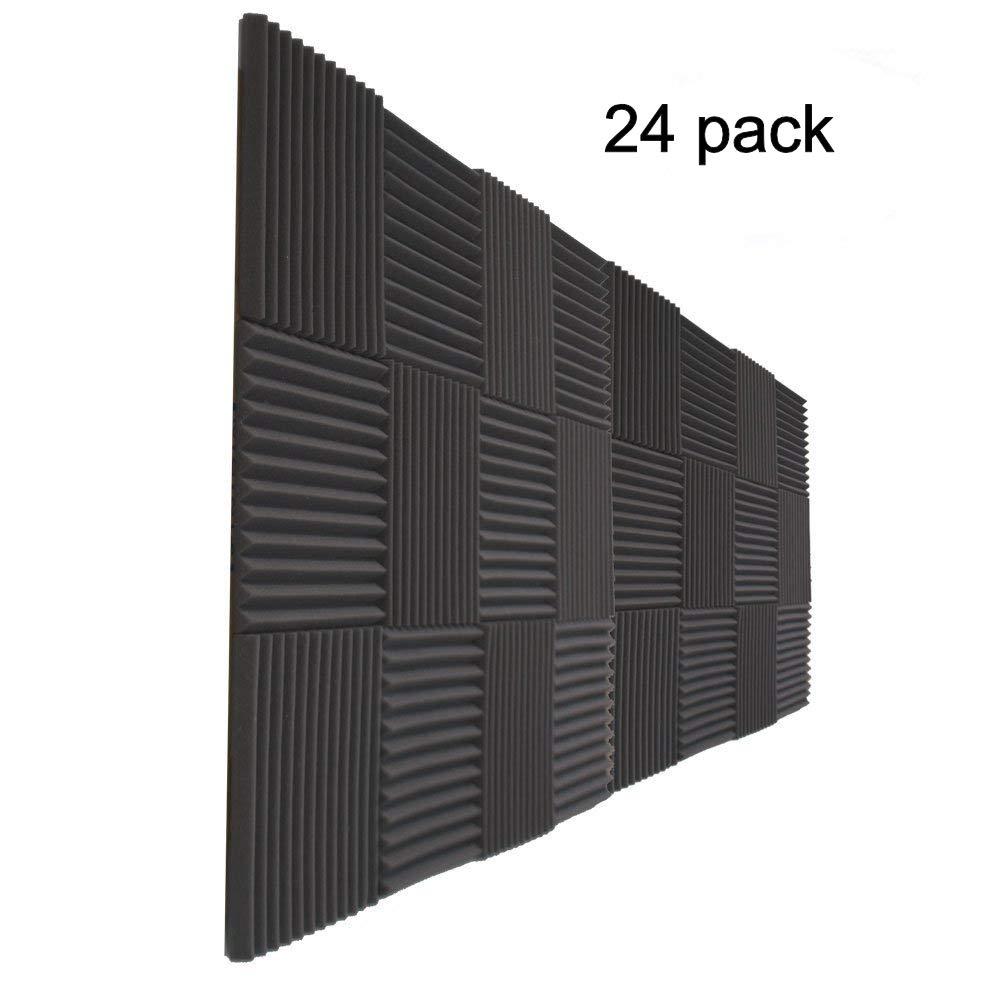 24 Pack- Acoustic Panels Studio Foam Wedges 1'' X 12'' X 12''