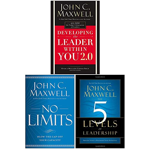 Developing the Leader Within You 2.0, [Hardcover] No Limits, [Hardcover] The 5 Levels Of Leadership 3 Books Collection Set by John Maxwell
