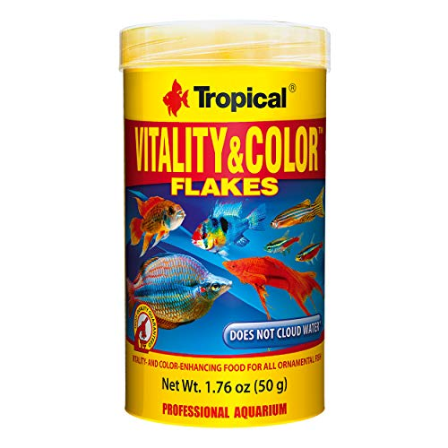 Tropical USA Vitality & Color Flakes Fish Food Tin, 50g
