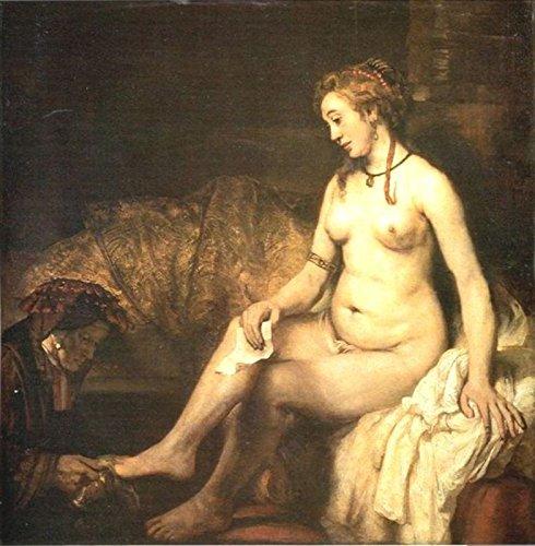"Rembrandt Van Rijn - Bathsheba Reading a Letter of King David - Musee du Louvre 30"" x 29"" Wall Art Giclee Canvas Print (Unframed)"