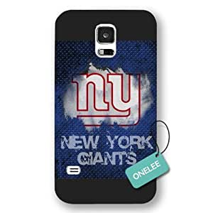 Onelee(TM) - Black Frosted NFL Team New York Giants Logo Samsung Galaxy S5 Case & Cover - Black 5 by kobestar