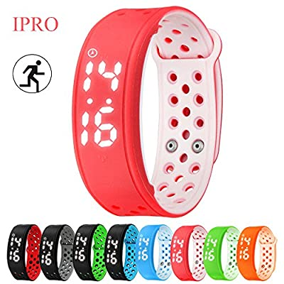 Kids Pedometer Wristband,IPRO Steps Calorie Counter Smartwatch for Running Walking Healthy Sports Activity Fitness and Sleep Tracker for IOS iphone 5/5s/SE/6s/6s Plus&Android Smartphones