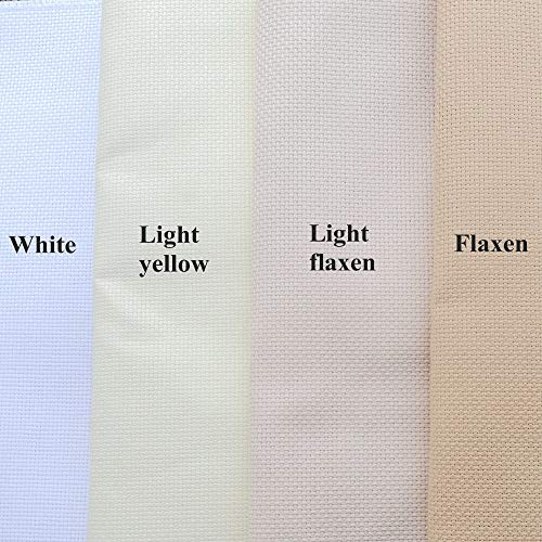 50x60cm Aida 14ct white cloth pink black flaxen green cross stitch fabric canvas DIY handmade needlework sewing craft supplies Light yellow, 50x60cm