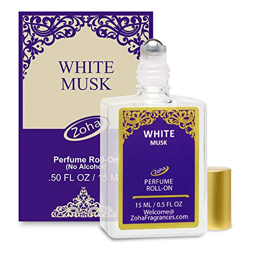 (White Musk Perfume Oil Roll-On (No Alcohol) White Musk Fragrance Oil - Essential Oils and Perfumes for Women and Men by Zoha Fragrances, 15 ml / 0.50 fl Oz)