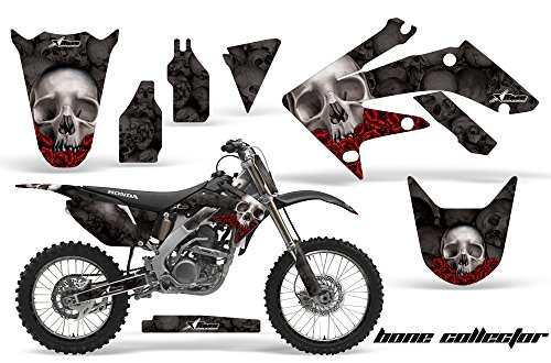 AMR Racing Graphics Kit for MX Honda CRF250R 2004-2009 with Number Plates BONE COLLECTOR BLACK