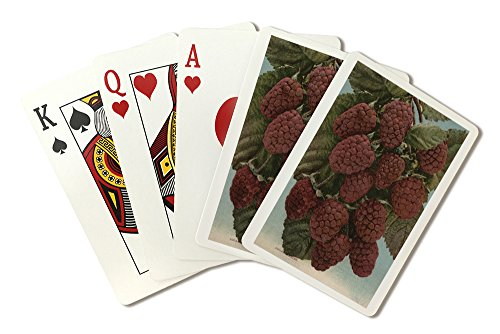 Fruit Chromo Lithograph of Loganberries (Playing Card Deck - 52 Card Poker Size with Jokers)