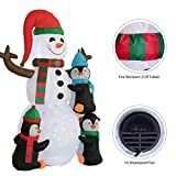 VIVOHOME 6.2ft Height Christmas Inflatable LED