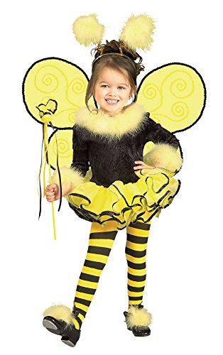 [UHC Girl's Angel Bumblebee Bee Ballerina Toddler Fancy Dress Halloween Costume, 2T-4T] (Scary Bee Costume)