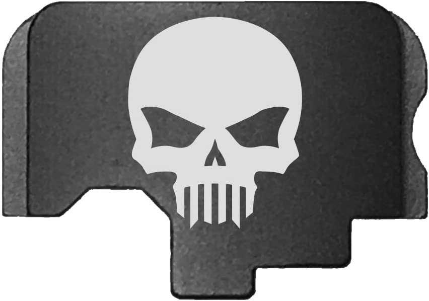 Bastion Laser Engraved Rear Cover Slide zurück Plate für Kahr Cm/Ct/Cw/P/Pm/Tp Tactical Skull