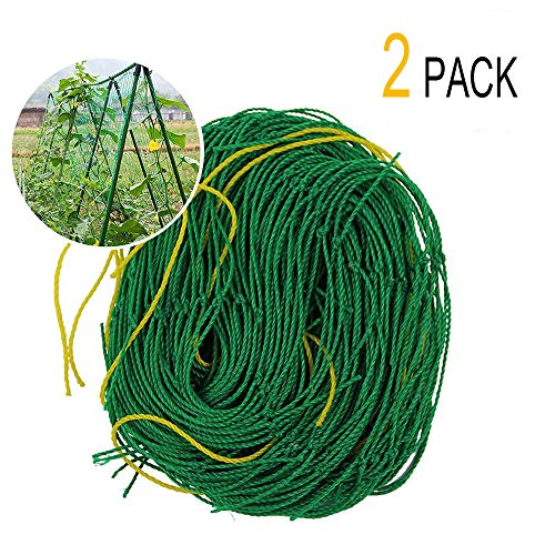 - Garden Plant Trellis 2 Pack Netting Heavy Duty Net Support for Cucumber, Vine, Veggie Trellis Net, Climbing Vining Plants (6Ft x 6Ft)