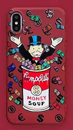 Funda para iPhone XR Monopoly Money Soup Billet Dollars 100 $ Argent USA Rojo Fonce Bordeaux Carcasa de Moviles Caso Silicón: Amazon.es: Electrónica