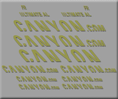 Ecoshirt LH-QK1Q-9A40 Stickers Canyon Ultimate R291 Vinyl Adesivi Decal Aufkleber КТу MTB Stickers Bike, Gold