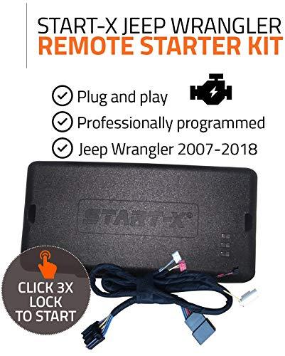 Start-X Remote Starter Kit for Jeep Wrangler Key Start 2007-2018 || Plug & Play || 3X Lock to Remote Start || 10 Minute Install