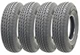 Set of 4 Heavy Duty Trailer Tires ST205/90R15 (7.00R15)10 PR load range E