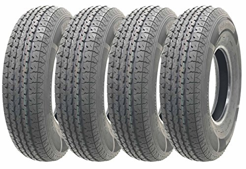 Set of 4 Heavy Duty Trailer Tires ST205/90R15 (7.00R15)10 PR load range E by Free Country (Image #1)