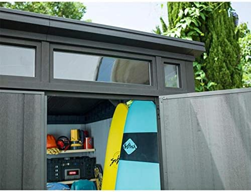 Keter - Caseta de jardín exterior Artisan 97, Color gris: Amazon.es: Jardín