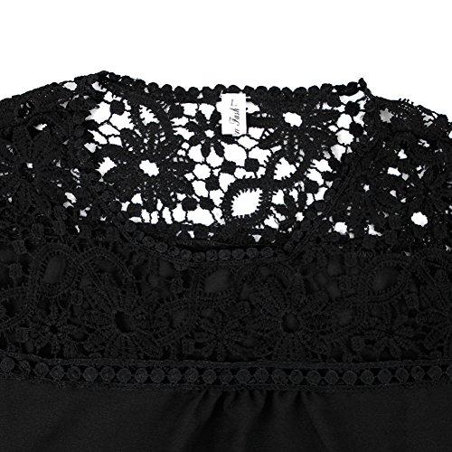 T Longue Manche Femme Bold Blouse Vintage El Fille Manner Tunique Dentelle Chemisier shirt Mousseline Sexy 4qxx0I1