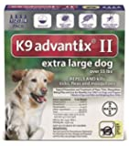 NEW K9 Advantix II Extra Large XL Dog 4 Pack / MONTH for Dogs Over 55LBS