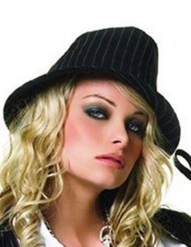 Theater Dance Costumes Musical (Flirty PinStripe Fedora Hat)