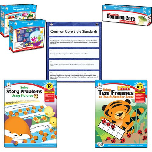 Carson Dellosa Common Core Kit for Math and Language, Kindergarten (CDP144603) (Kindergarten Math Kit)