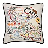 Catstudio Hand-Embroidered Pillow - California