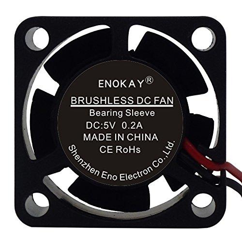 Enokay Small Brushless Cooling Fan DC 5V 0.2A 25mm X 25mm X 10mm PH2.0-2P
