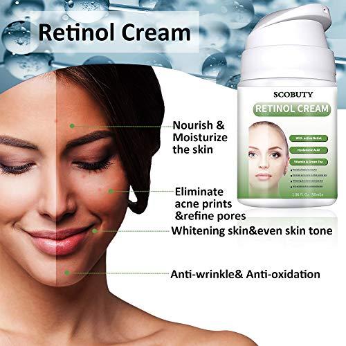 51L6dQ6uEkL - Retinol Cream,Retinol Moisturizer Cream,Retinol Day Night Cream,Anti Aging Cream with Active Retinol Hyaluronic Acid for Face Eye Area Wrinkles Fine Lines Firming Skin