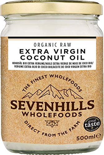 Sevenhills Wholefoods Crudo Vergine Extra Olio Di Cocco Bio, Spremuto A Freddo 500ml 1 spesavip