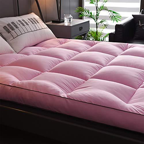 Amazon.com - Redsun Thick Futon Mattress, Feather Quilted Fitted Mattress, Plush Premium Hotel Quality Mattress-Hypoallergenic-Pink 200x220cm(79x87inch) -