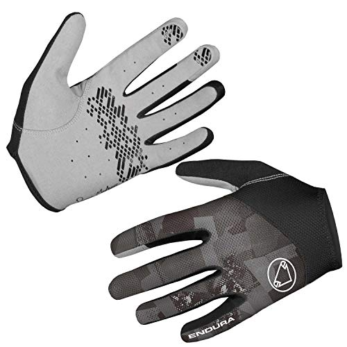 Endura Men's Hummvee Lite Full Fingered Cycling Glove II Grey Camo, - Fingered Gloves Full Cycling