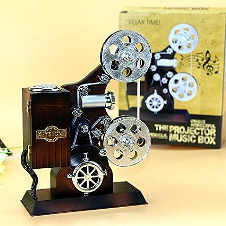 XJoel retro creativo vintage antiguo resina de cine proyector ...