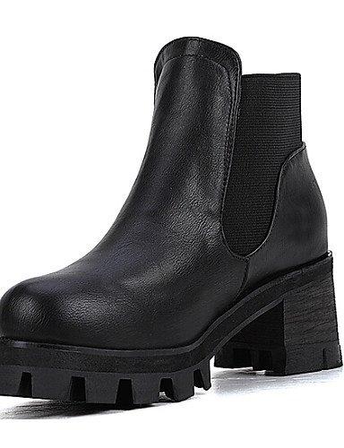 us7 Exterior Botines Uk5 Casual Xzz Robusto Black Eu39 Vestido Negro Tacón De Zapatos 5 Botas Mujer 5 Sintético Cn38 Uk6 Cn39 Eu38 Punta Black us8 Redonda XzwwCRxgq