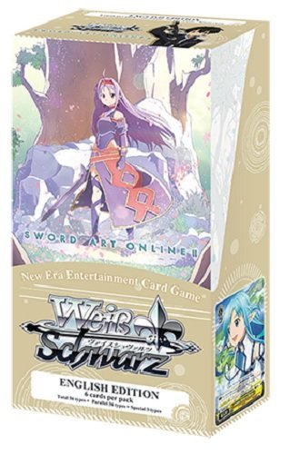 Weiss Schwarz English Sword Art Online II Vol.2 Extra Booster Box (6 Packs) Art Box Trading Cards