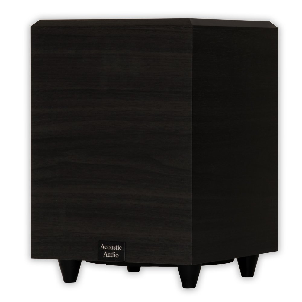 Acoustic Audio PSW8 Home Theater Powered 8'' Subwoofer Black Down Firing Sub by Acoustic Audio by Goldwood