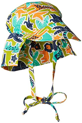 - Flap Happy Baby Boys' UPF 50+ Original Flap Hat with Ties, Zoo Mania, Large