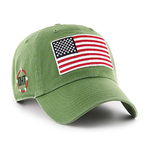 Hat Fatigue Adjustable - '47 Operation Hat Trick Mens Clean Up Adjustable Hat with Side Embroidery Clean Up Adjustable Hat with Side Embroidery, Fatigue Green, One Size