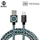 Easytoy Ouhoe Mandala Cable Round Magnetic Charge Cable For Type-C/Micro USB Android (Micro USB)