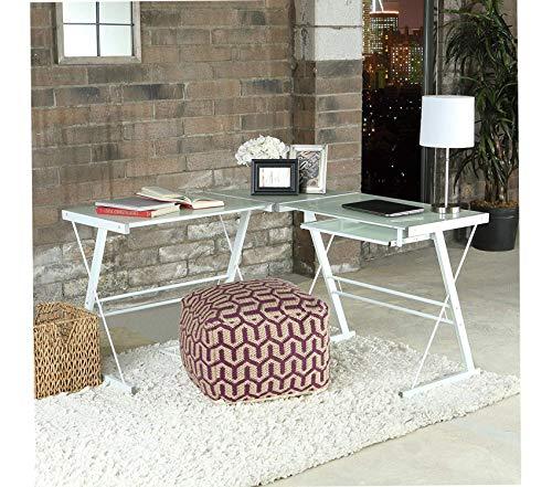 (Wе Furniturе Glass Metal Corner Computer Desk)