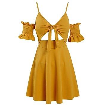 Falda De Moda Traje De Baño Femenino Amarillo Pequeño Cofre ...