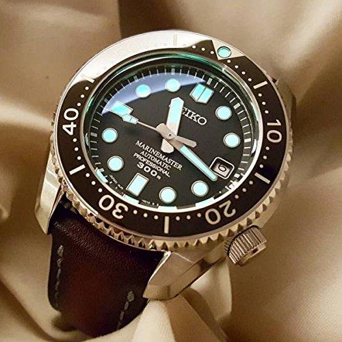 Custom 21mm Handmade Premium Calf Leather Watch Band Gunny Straps - Java Chip