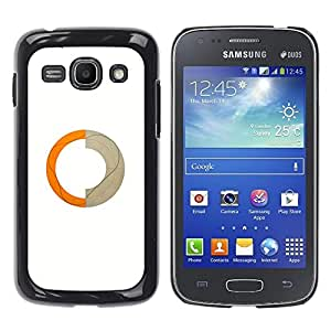Shell-Star Arte & diseño plástico duro Fundas Cover Cubre Hard Case Cover para Samsung Galaxy Ace 3 III / GT-S7270 / GT-S7275 / GT-S7272 ( Abstract Ring Orange Beige Crescent )