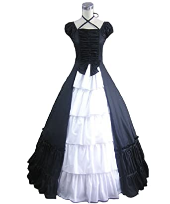 Amazon.com: Smiling Angel Womens Sleeveless Victoria Gothic Lolita Prom Dress Costumes: Clothing